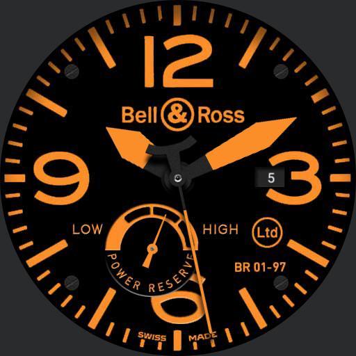 Orange watch face