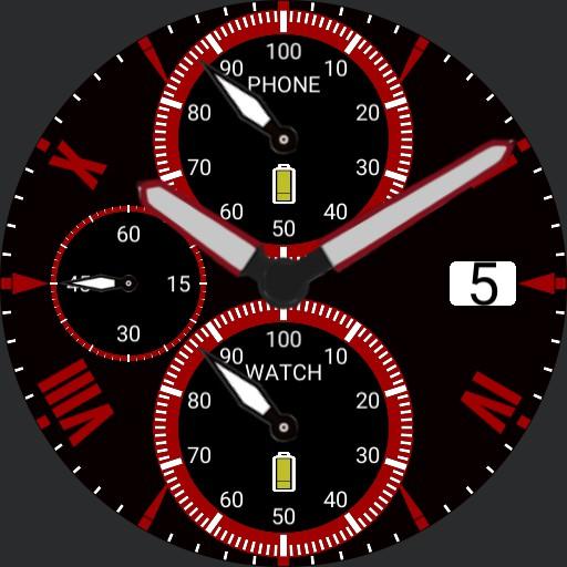 Roman Chronograph Red