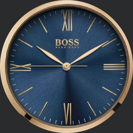 hugo boss blue rose gold