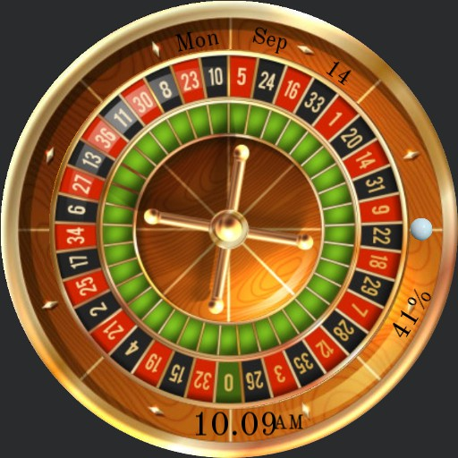 Roulette with spinning wheel and ball -- not a game