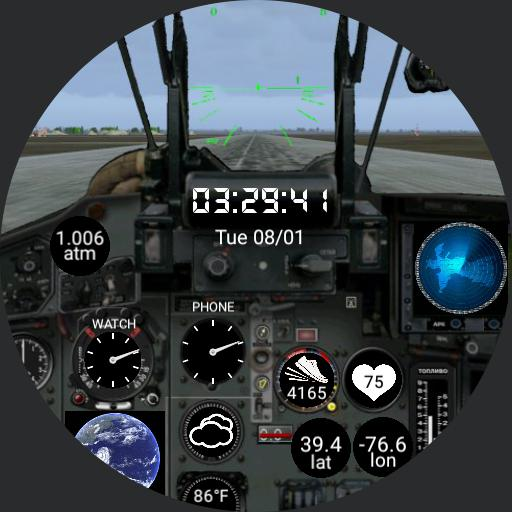 MiG-29 Fulcrum Cockpit Watch
