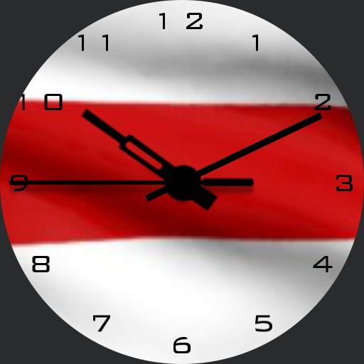 Belarus real flag time