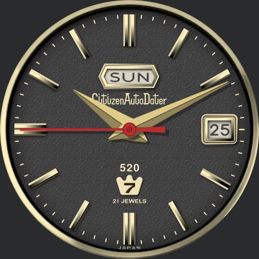 Citizen Autodater Automatic Watch C.1970