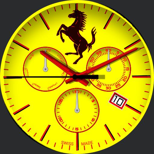 ferrari yellow clock watch