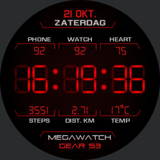 MEGAWATCH Digital Red