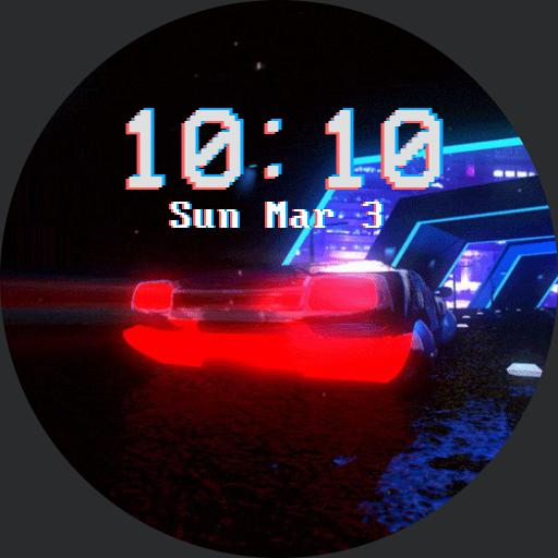 Retrowave Car Gif