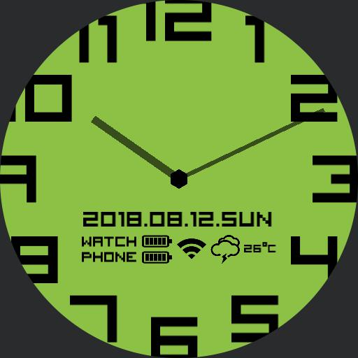 simple analog watchface