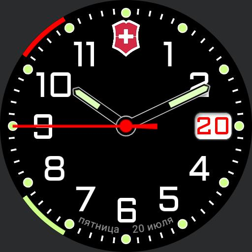 Swiss watch side charge