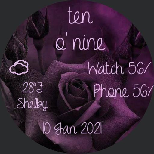 antique purple flower  by geri