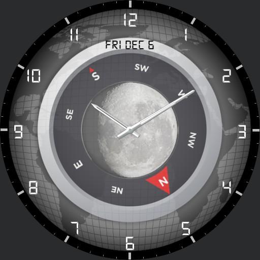 Geo-lunar Compass