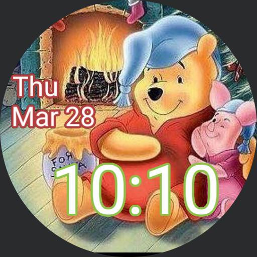 Pooh piglet Christmas digital Copy
