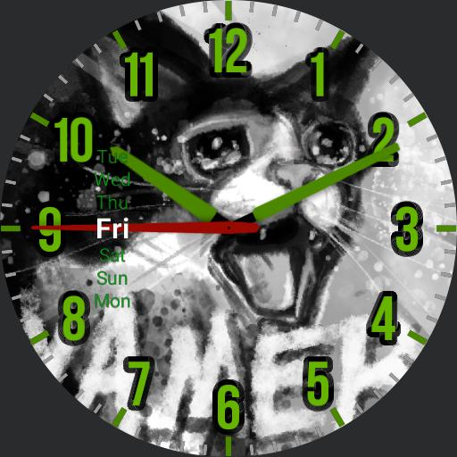 Yamaro Cat Watch face.