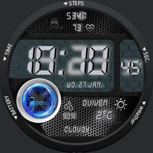 A-70 X Watch Digital Metal Weather