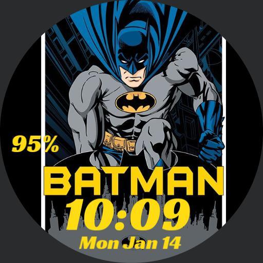 batman digital yellow text