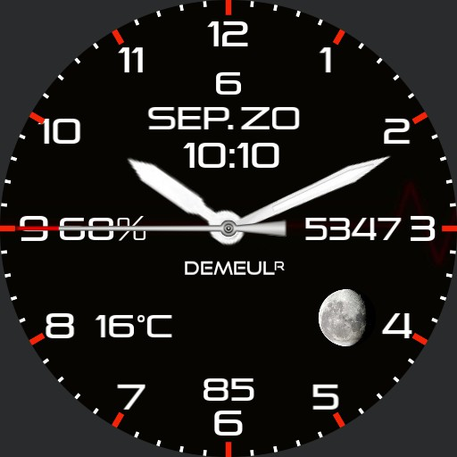 Analog digital Black red