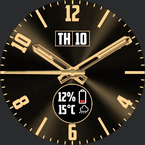 Gold Classic info watch face