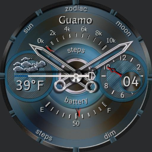 Guamo Blue Plastic