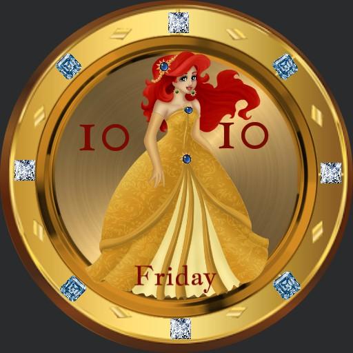 Ariel in gold