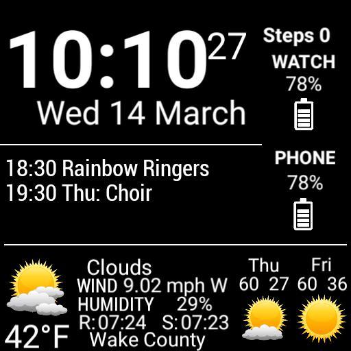 Agenda and Weather Details - Black Copy
