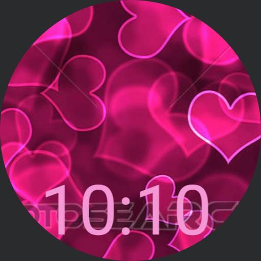 Pink Hearts - plwren