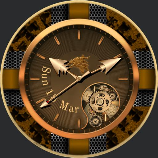 Steampunked V3. 4 Face Metal collection, with face cover.