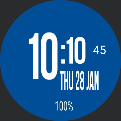 Minimal blue watch face Copy