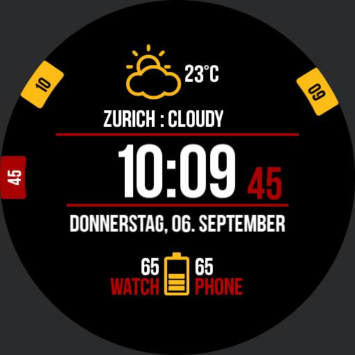 Black / Red Digital Watch