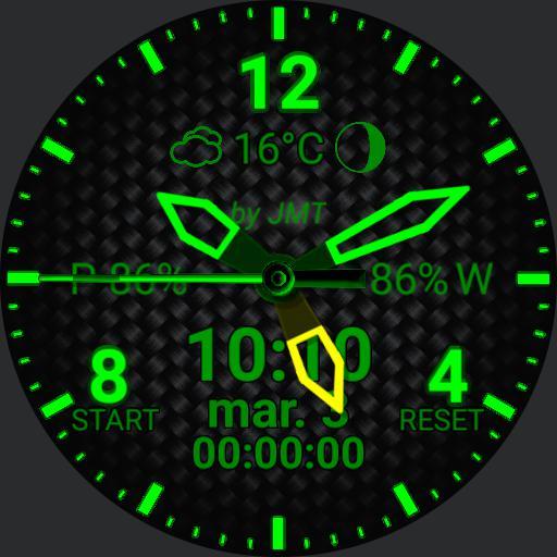 Carbon Fiber Dark V v3.0 green