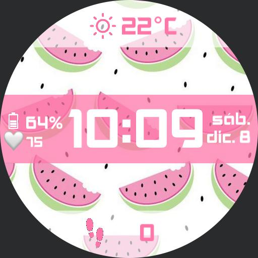 Pink Watermelon Watch Face
