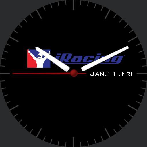 iRacing Simple black AG watch