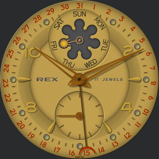 Rex Double Calendar SUNPHASE C.1950s