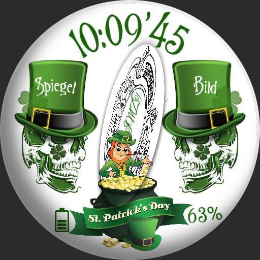 St. Patrick Spiegel Skull