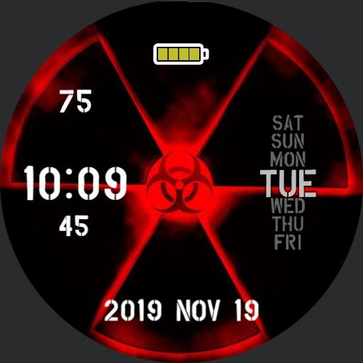 Radiation BioHazard Red 24hr