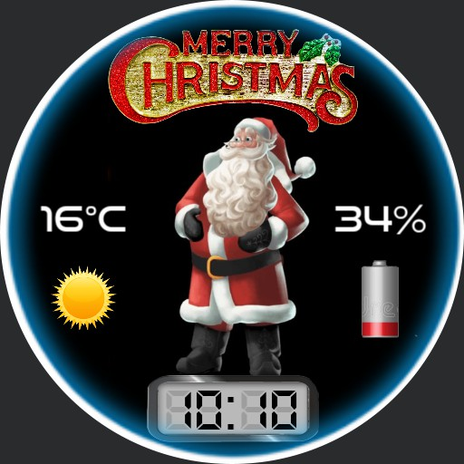 Merry Christmas - Santa animated