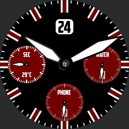 Chrono red and black