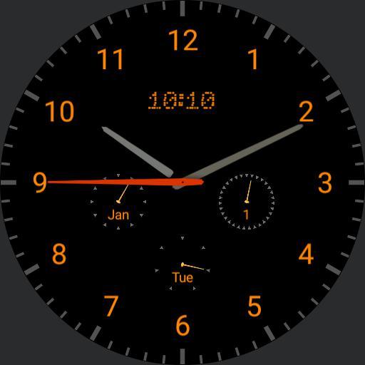 analog / digital watch