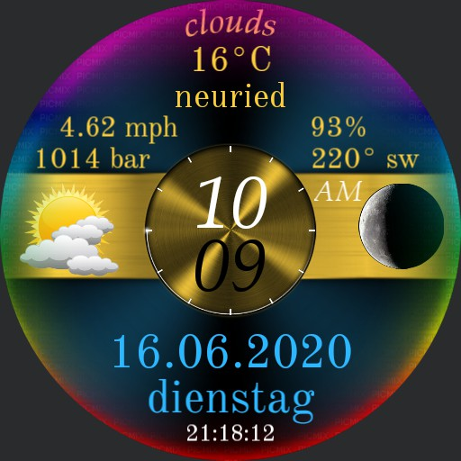 UFO gold blue rainbow metallic 31.5