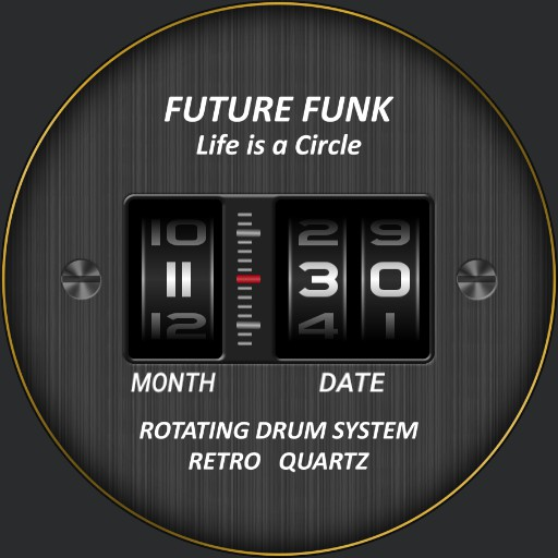 Future Funk Drum / Model #FF102-BKYL_LBK with Date