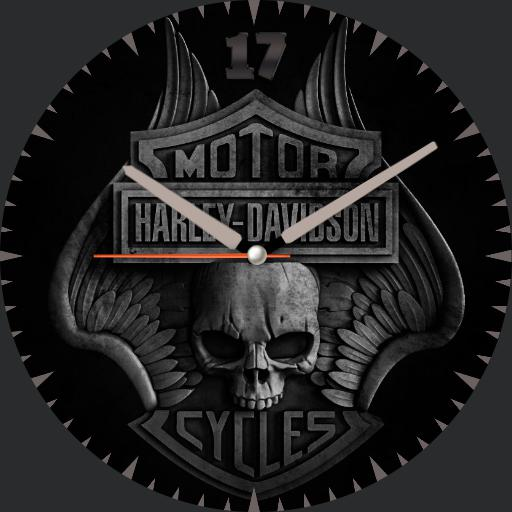 Harley-Davidson skullbadge