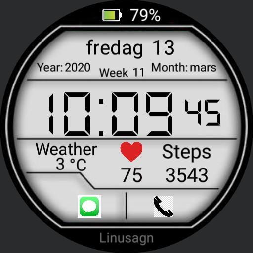 New digital watch