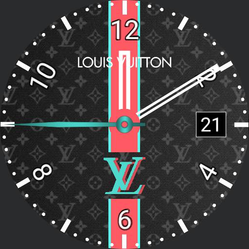 LV Louis Vuitton x Samsung Color Changing Watch Face