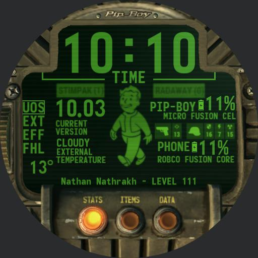 Pipboy 2018 with menus and sounds