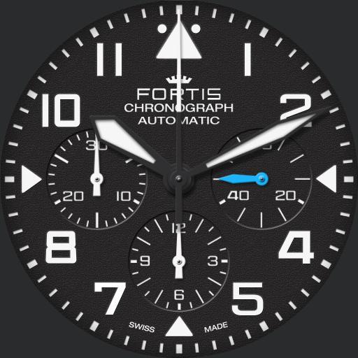 Fortis Pilot Classic Chrono real dim v1.0