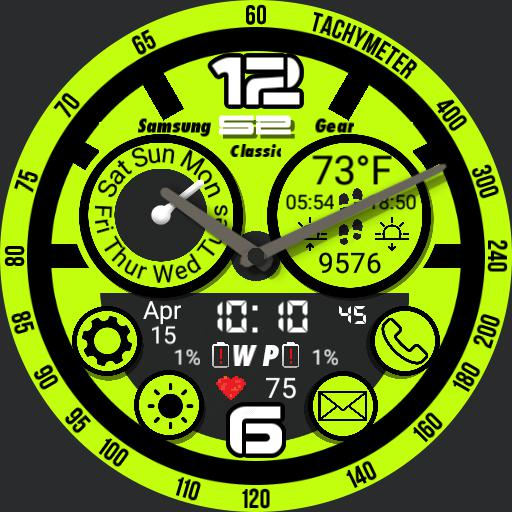 Multi Function for Gear S2 YellowGreen