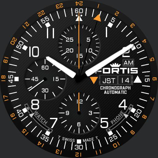 FORTIS B-42 professional chronograph GMT 637.22.11M