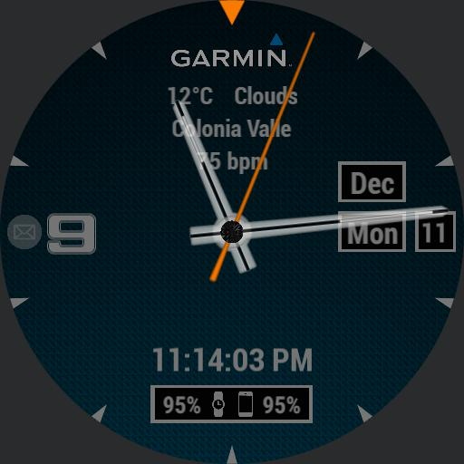 Garmin simple blue, orange