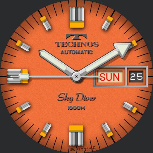 Technos Sky-Diver 1000M C.1970