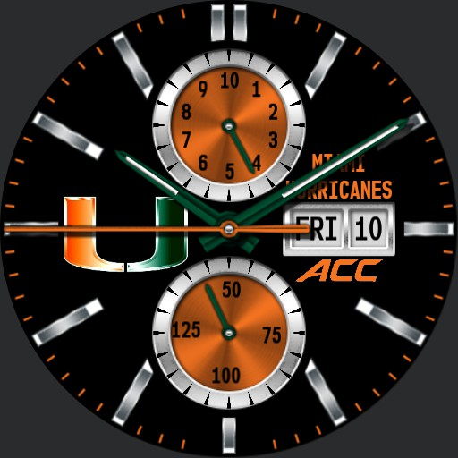 Miami Hurricanes Orange Copy