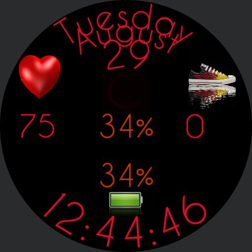 Animated Watch Face 001