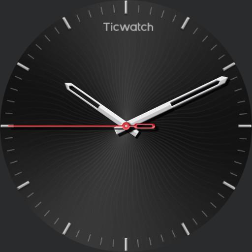 ticwatch analog black